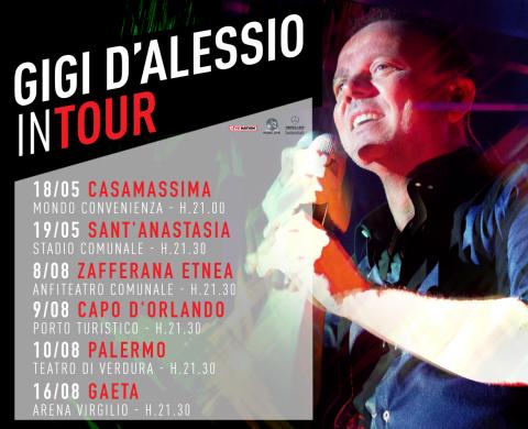 """Al via tra pochi giorni il """"Gigi D'Alessio In Tour 2018"""""""