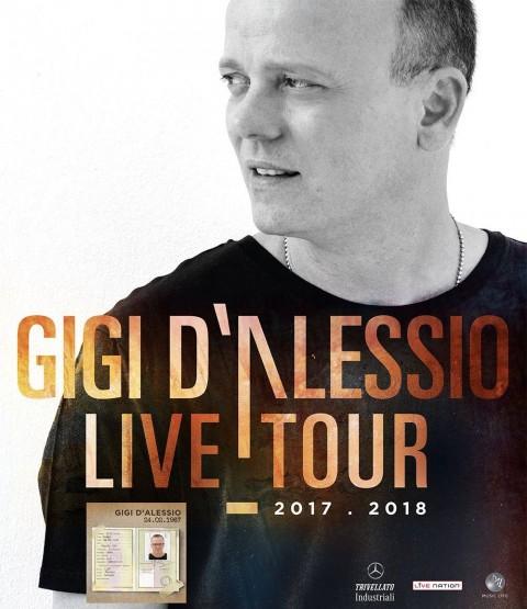 Gigi D'Alessio Live Tour 2017: nuova data a Bari e raddoppio a Napoli!
